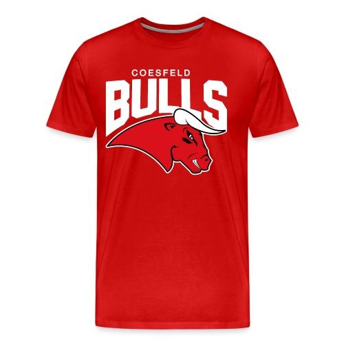 Coesfeld Bulls Logo mit Schriftzug - Männer Premium T-Shirt