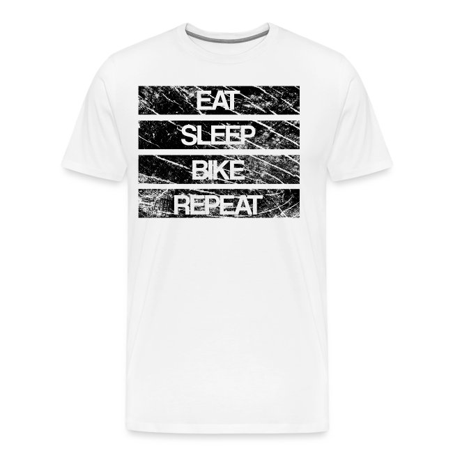 eat sleep bike repeat Used look eat sleep bike repeat