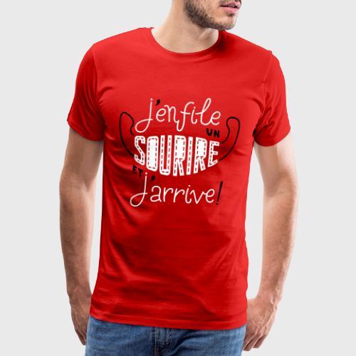 J'enfile un sourire - T-shirt Premium Homme