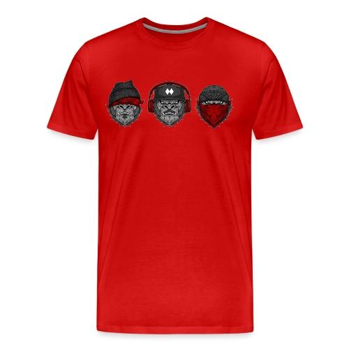 3 MONKEYS KAROS - Männer Premium T-Shirt