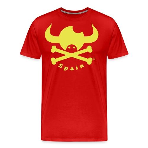 DISEÑO QUIJOTES BASICO AMARILLO SPAIN - Camiseta premium hombre