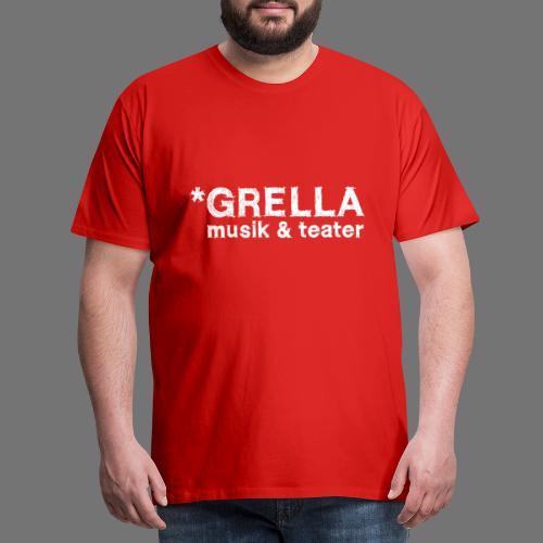 Grella musik teater logotyp vit - Premium-T-shirt herr