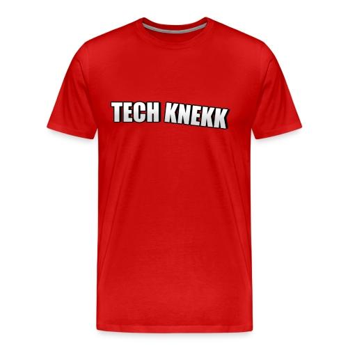 Techknekk logo stor png - Premium T-skjorte for menn