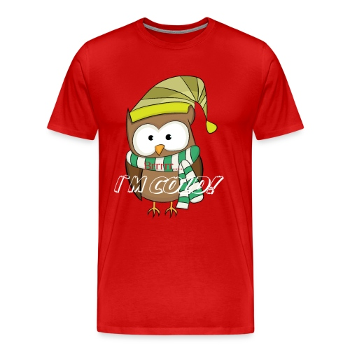 Eule, Kauz, Uhu, Vogel, - Männer Premium T-Shirt
