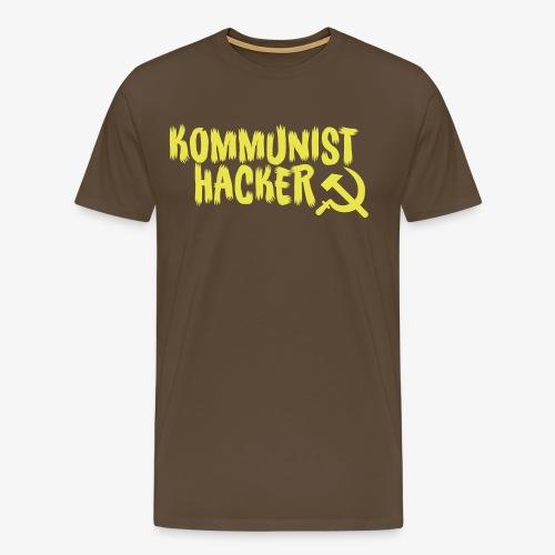 Kommunist Hacker - Herre premium T-shirt