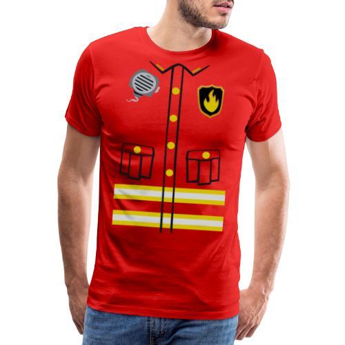 Firefighter Costume - Men's Premium T-Shirt