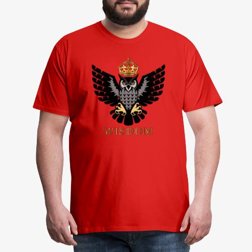 Royal Wisdom — La Chouette à Couronne - T-shirt Premium Homme