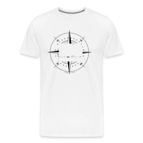 180degrees2d print png - Herre premium T-shirt