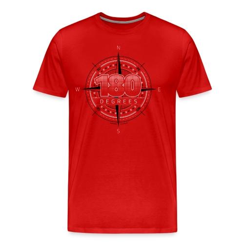 180degrees2d print png - Herre premium T-shirt