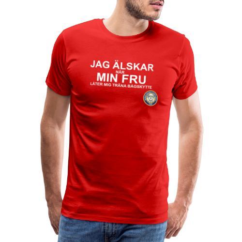 Jag Älskar Min Fru & Bågskytte - Premium-T-shirt herr