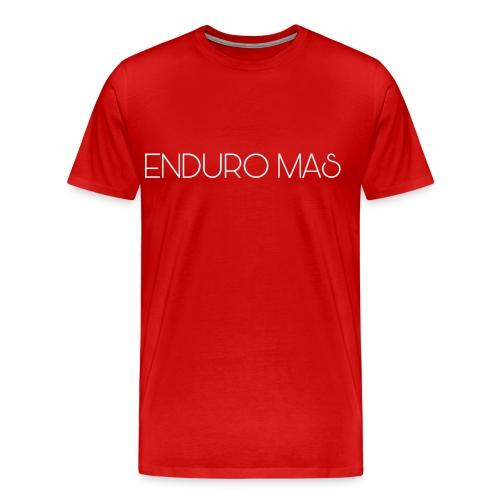 ENDURO MAS TEXTE - T-shirt Premium Homme