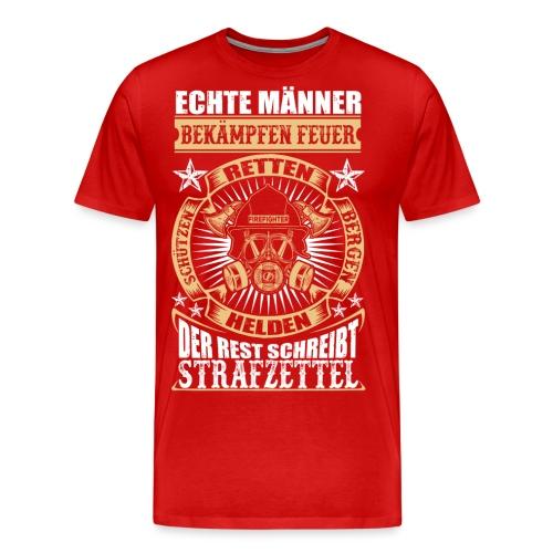 Feuerwehr Echte Männer - Männer Premium T-Shirt