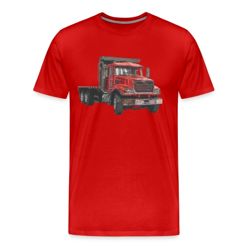 Flat Truck 3-axle - Red - Men's Premium T-Shirt