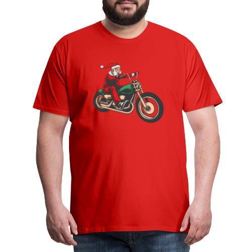 Cool Winter Christmas Santa Motor Biker - Men's Premium T-Shirt