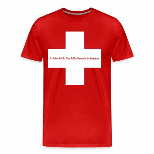 Design Super Suisse - T-shirt Premium Homme