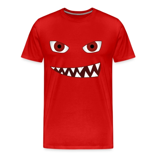 smiling devil emoticon grinning red demon - Männer Premium T-Shirt