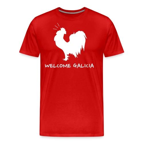 Logo galo welcome galicia - Camiseta premium hombre