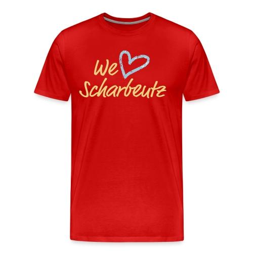 We love Scharbeutz - Logo sand/hellblau - Männer Premium T-Shirt