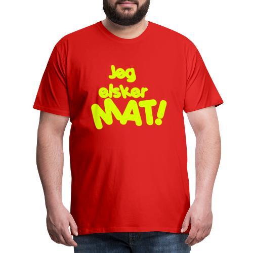 Jeg elsker mat - Premium T-skjorte for menn