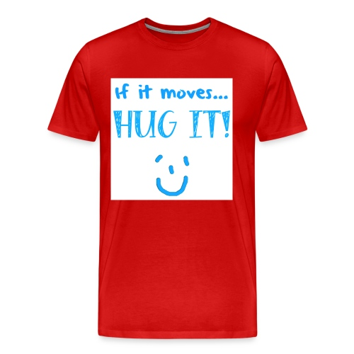 hugit light blue png - Men's Premium T-Shirt