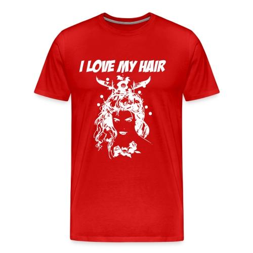 ilovemyhairwhite - Premium-T-shirt herr