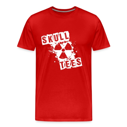 skullteesradioactive weiss png - Männer Premium T-Shirt
