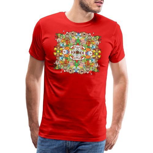 La foule de Noël s'amuse follement et à fond - Men's Premium T-Shirt