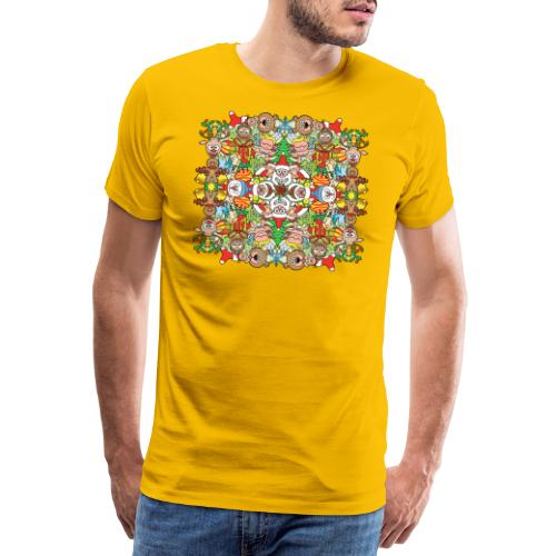 The Christmas crowd is having a great time - Men's Premium T-Shirt