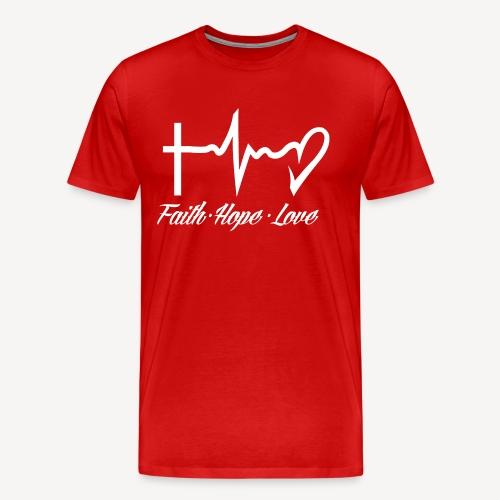 FAITH HOPE LOVE - Men's Premium T-Shirt