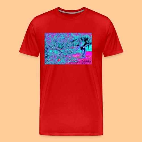 Crazy Apples /turquoise-pink - Premium T-skjorte for menn