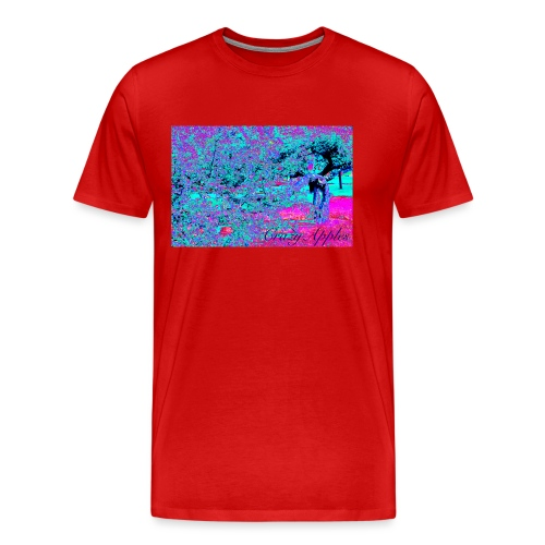 Crazy Apples /turquoise-pink - Premium T-skjorte for menn