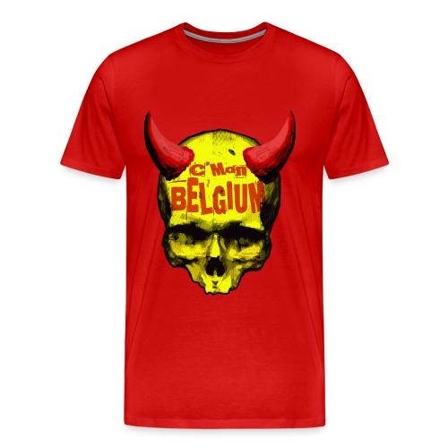 Belgium Devil 2 - Mannen Premium T-shirt