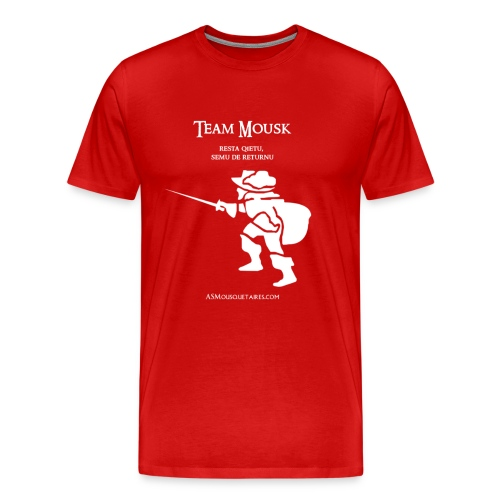 TeamMouskwhite2 png - T-shirt Premium Homme