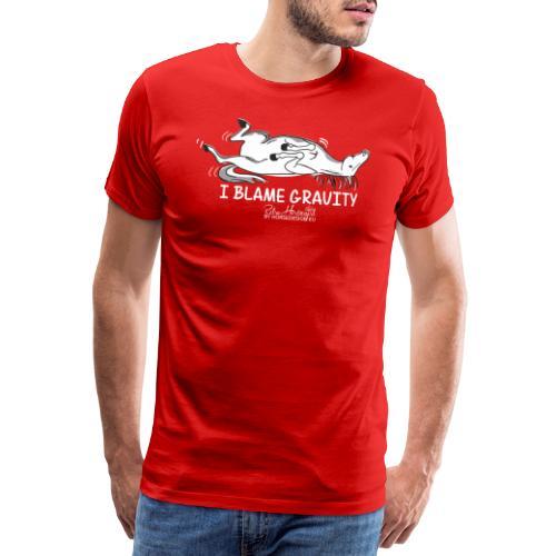Schwerkraft - Pferdespruch Comic - Männer Premium T-Shirt