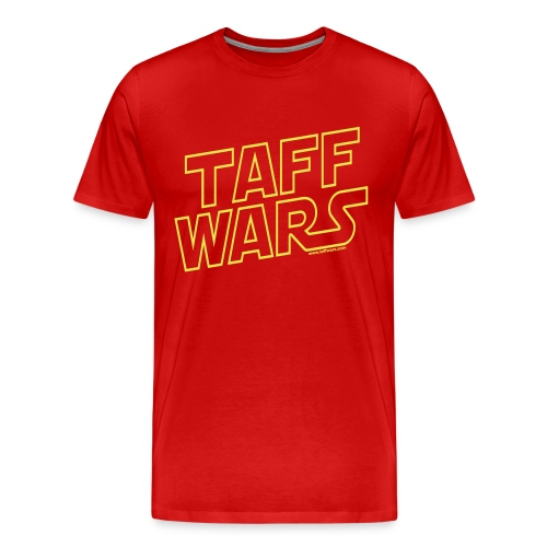 taffwars logo web angle - Men's Premium T-Shirt