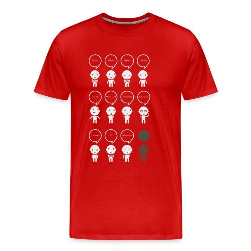 Prokastination - Was du heute kannst besorgen,... - Männer Premium T-Shirt