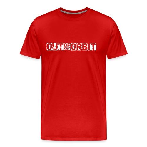 outoforbit witte sticker - Mannen Premium T-shirt