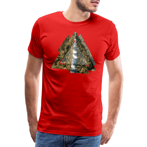 Triangle Tropical Palm Street - Männer Premium T-Shirt