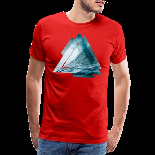 Dreieck Surfer Welle - Männer Premium T-Shirt