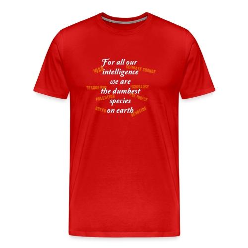 forAllOurIntelligence whi - Men's Premium T-Shirt