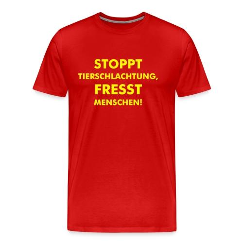 Stoppt Tierschlachtung! - Männer Premium T-Shirt