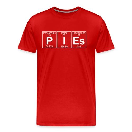 P-I-Es (pies) - Full - Men's Premium T-Shirt