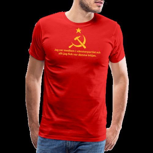 Vänsterpartiet Kommunisterna - Premium-T-shirt herr
