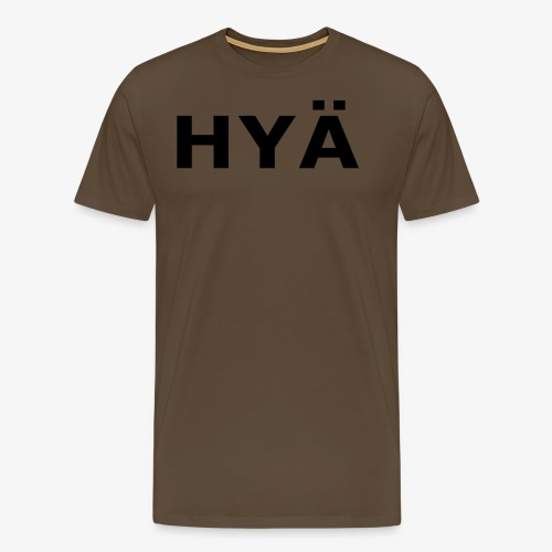 hyä - Miesten premium t-paita
