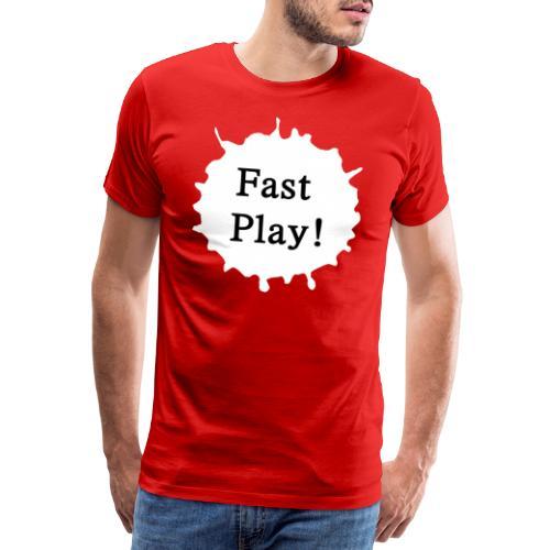 Fast play weiß - Männer Premium T-Shirt