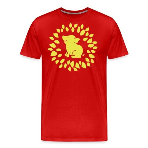Schwein im Glück - Männer Premium T-Shirt