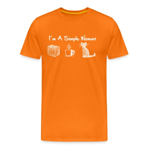 Vorschau: simple woman cat books - Männer Premium T-Shirt