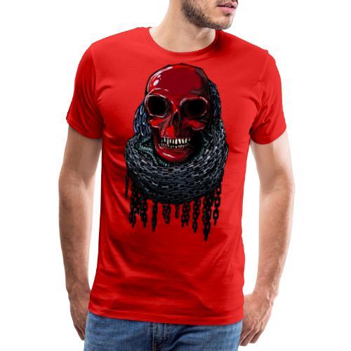 RED Skull in Chains - Men's Premium T-Shirt
