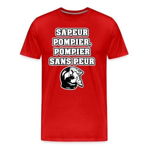 SAPEUR-POMPIER, POMPIER SANS PEUR - JEUX DE MOTS - T-shirt Premium Homme