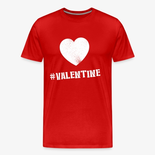 Hashtag Valentine Woman - Mannen Premium T-shirt